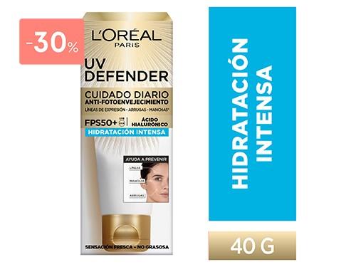 LOREAL - UV DEFENDER HIDRATACION INTENSA FPS50 40 GR   FarmaOnline