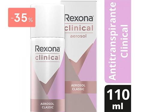 REXONA - AEROSOL WOMEN CLINICAL CLASSIC 110 ML | FarmaOnline