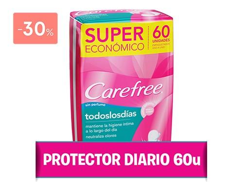 CAREFREE - Protectores diarios todos los dias (60 unidades)