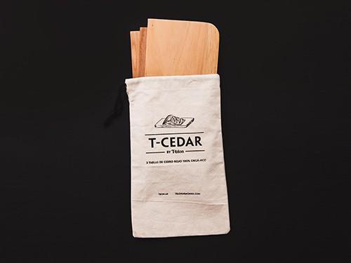 4 PACKS T-CEDAR. (Tablas para ahumar)