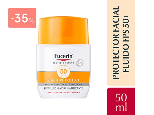 EUCERIN - Sun fluido facial matificante fps 50 50 ML | FarmaOnline