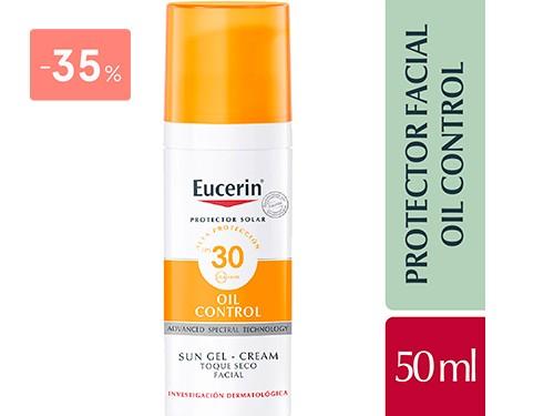 EUCERIN - SUN TOQUE SECO OIL CONTROL FPS 30 50ML | FarmaOnline