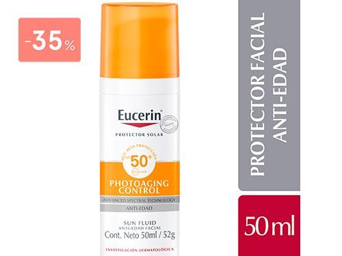EUCERIN - SUN FLUIDO ANTI-EDAD FPS 50 50ML | FarmaOnline