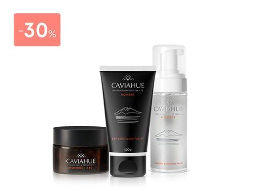 CAVIAHUE - SET (EXFOLIANTE  100 GR + CREMA 45 GR + ESPUMA) FOR MEN