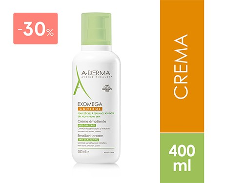ADERMA - CREMA EXOMEGA CONTROL 400 ML | FarmaOnline