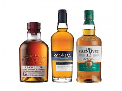 Combo Whisky Aberlour + Scapa Skiren + The Glenlivet 12 Años