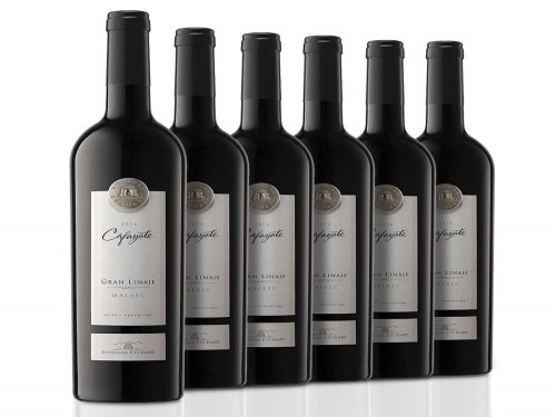 Caja De 6 Botellas Vino Cafayate Gran Linaje Malbec 750 Ml