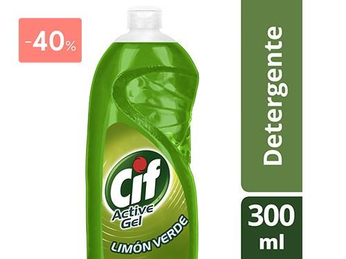 CIF - DETERGENTE ACTIVE GEL CON LIMON VERDE 300 ML | FarmaOnline