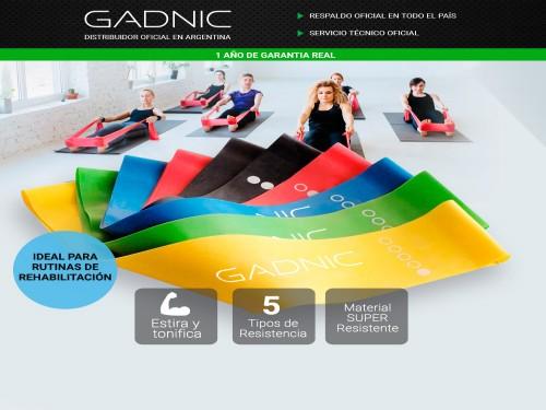 Bandas Elásticas Gadnic Isométricas Kit x5 Super Resistentes