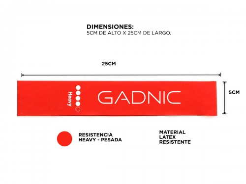Banda De Resistencia Gadnic Latex Heavy