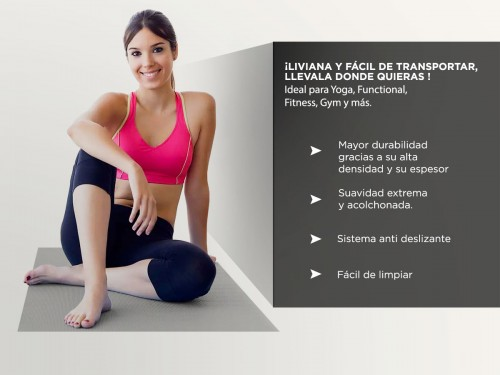 Colchoneta Yoga Mat Gadnic PVC 173x61x0,6 cm