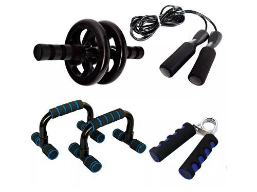 Kit Entrenamiento Fitness Gadnic Ab Wheel + Soga + Manijas