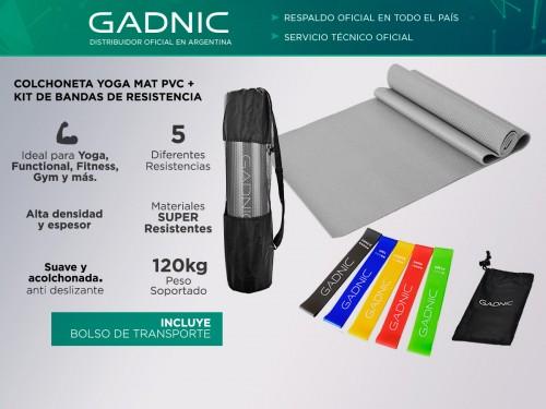 Colchoneta Yoga Mat PVC + Kit de Bandas de Resistencia