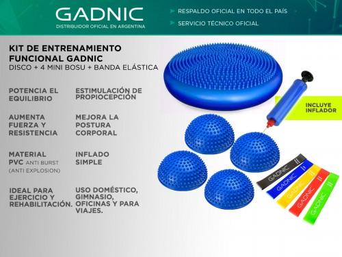 Kit De Entrenamiento Funcional Gadnic Disco + 4 Mini Bosu