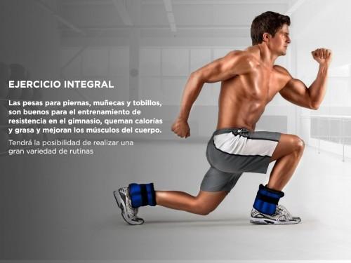Par De Tobilleras Gadnic 1Kg Total Fitnes Reforzada
