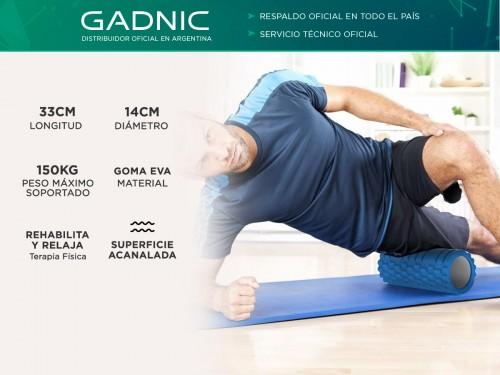 Rolo Pilates Yoga Gadnic Foam Roller Masajeador Texturado 33cm