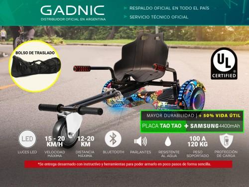 Patineta Eléctrica Gadnic + Karting Kit Go Kart Hasta 120kg 20km/h