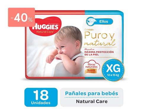 HUGGIES - Pañales natural care ellos talle XG | FarmaOnline