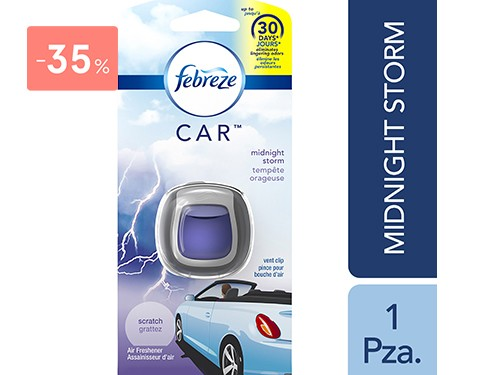 FEBREZE - AROMATIZANTE PARA AUTOS MIDNIGHT STORM 2ML | FarmaOnline