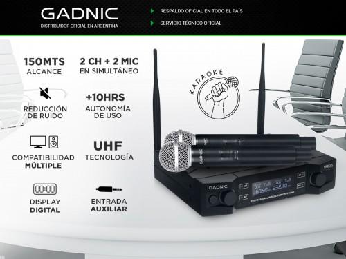 Microfono Inalámbiro Profesional de Mano GADNIC