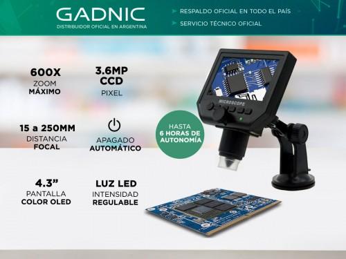 Microscopio Digital Gadnic MI10 600X 3.6MP
