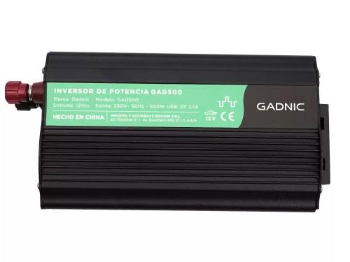Conversor Inverter Gadnic 500W Reales 12V a 220V