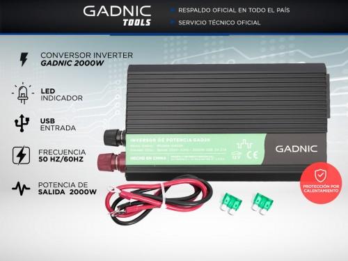 Conversor Inverter Gadnic 2000W Reales 12V a 220V