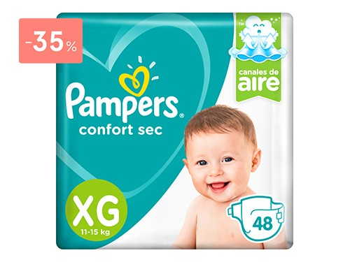 PAMPERS - PAÑALES CONFORT SEC PODS TALLE XG | FarmaOnline