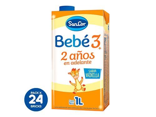 Leche Sancor Bebe 3 Vainilla Nutrición Comp. 1 litro X 24un.