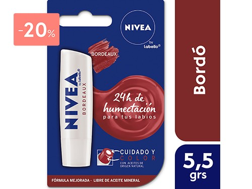 NIVEA - Protector labial care & color bordeaux (labello) | FarmaOnline