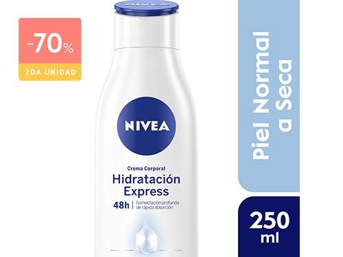 NIVEA - Crema corporal hidratación express piel normal a seca 250 ML