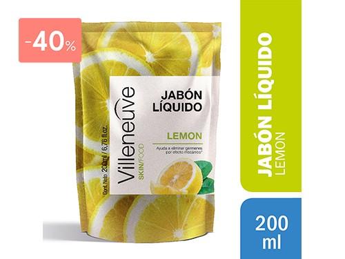 VILLENEUVE - REPUESTO JABÓN LIQUIDO LEMON 200 ML | FarmaOnline