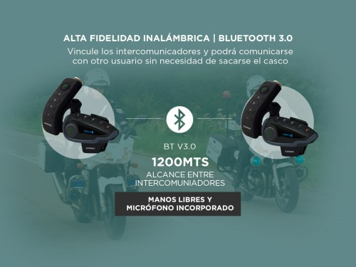 Intercomunicador Moto Gadnic G-800 Manos Libres Bluetooth