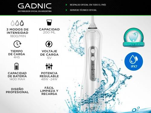 Irrigador Bucal Gadnic 100psi 200ml 3 Velocidades Inalámbrico