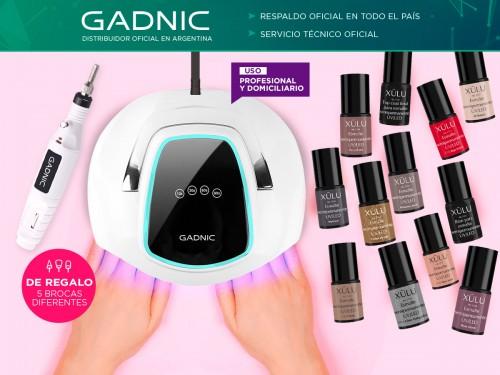 Cabina Para Uñas Gadnic BQ5 Pro UV Led 108w + Torno + 12 Esmaltes