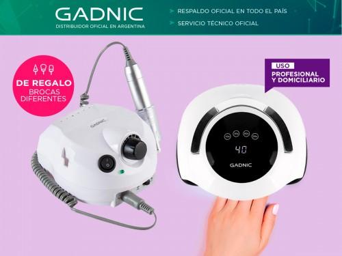 Kit Para Uñas Gadnic Torno T202 + Cabina UV Led BQ5 Pro