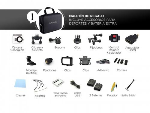Cámara Deportiva Gadnic SX8 4K 20Mpx + Batería Extra