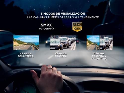 Cámara Espejo Retrovisor Gadnic 1080P Grabacion Dual