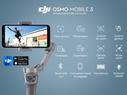 Estabilizador DJI Osmo Mobile 3 Videos Y Fotos Función Panorámica