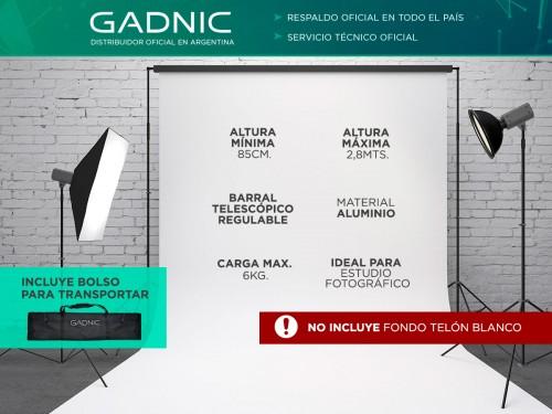 Soporte Porta Fondo Gadnic 1.20 a 2.80mts Aluminio Telescópico