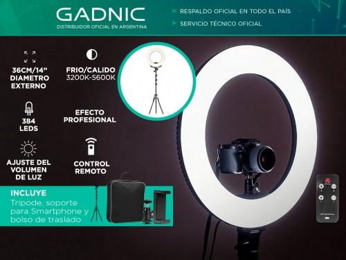 """Aro Iluminador Led Gadnic 36cm 14""""+ Trípode 190cm"""