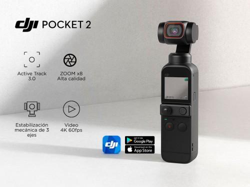 Cámara DJI Osmo Pocket 2 Creator Combo Estabilizador Mecánico