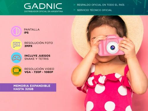 Cámara de Fotos Gadnic CK32 Digital Para Niños Función Selfie Resisten
