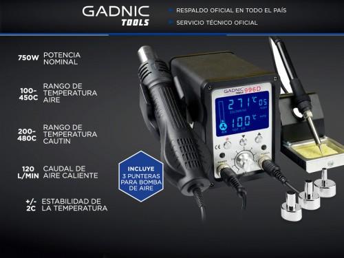 Estación de Soldado Gadnic 996D SMD 750w Digital
