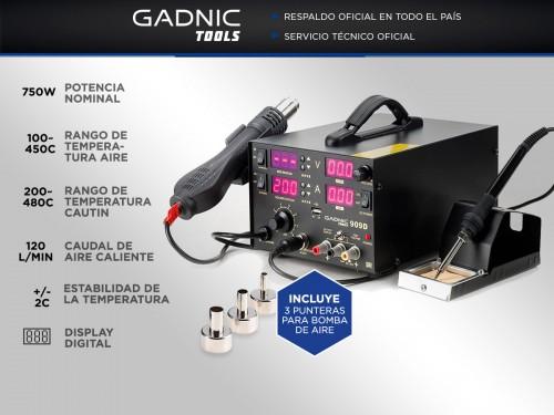 Estación de Soldado Gadnic 909D SMD 750w Profesional 5 en 1