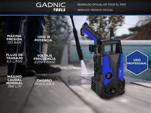 Hidrolavadora Gadnic KP1000 Alta Presión Gadnic 1400w 120 Bar ¿