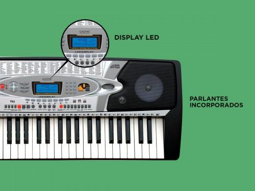Órgano Eléctrico Gadnic T02 54 Teclas 100 Ritmos 8 Percusiones