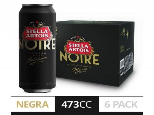 Cerveza Stella Noire 473 Cc Six Pack