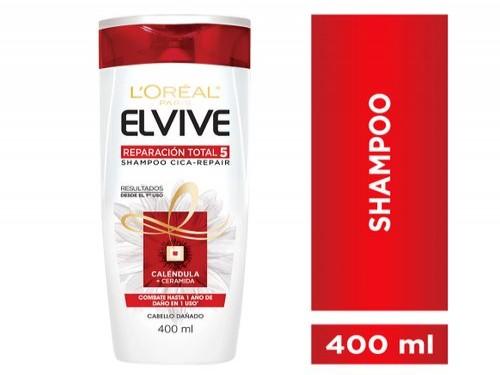 Shampoo Reparación Total 5 Elvive L Oréal Paris 400 Ml