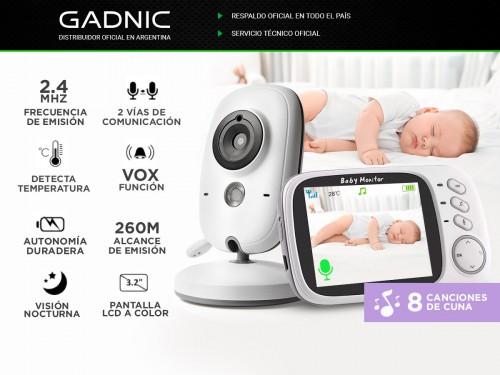 "Baby Call Gadnic con Cámara Visión Nocturna a Color 3,2"""